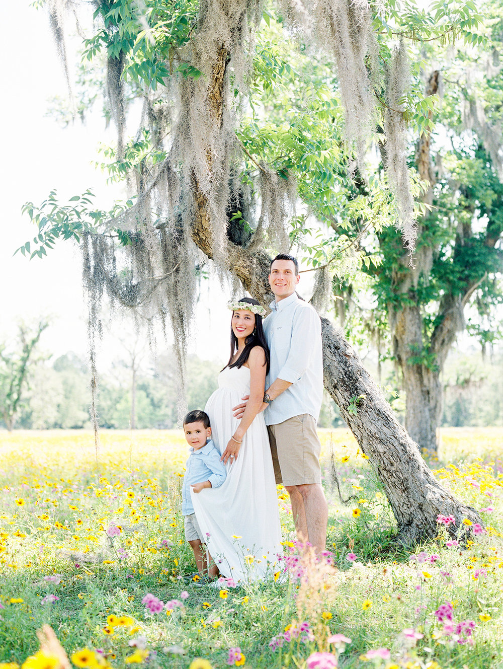 Family Maternity Session in a Flower Field- Lisa Silva Photography- Jacksonville and St. Augustine Florida Fine Art Film Photography- 1.jpg