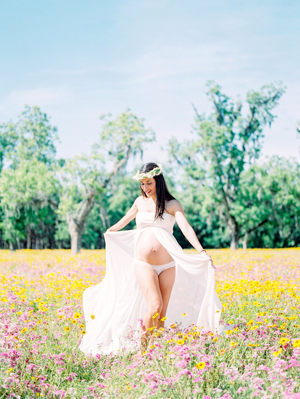 Family Maternity Session in a Flower Field- Lisa Silva Photography- Jacksonville and St. Augustine Florida Fine Art Film Photography- 0.jpg