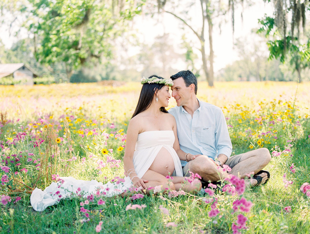 Family Maternity Session in a Flower Field- Lisa Silva Photography- Jacksonville and St. Augustine Florida Fine Art Film Photography- 6.jpg