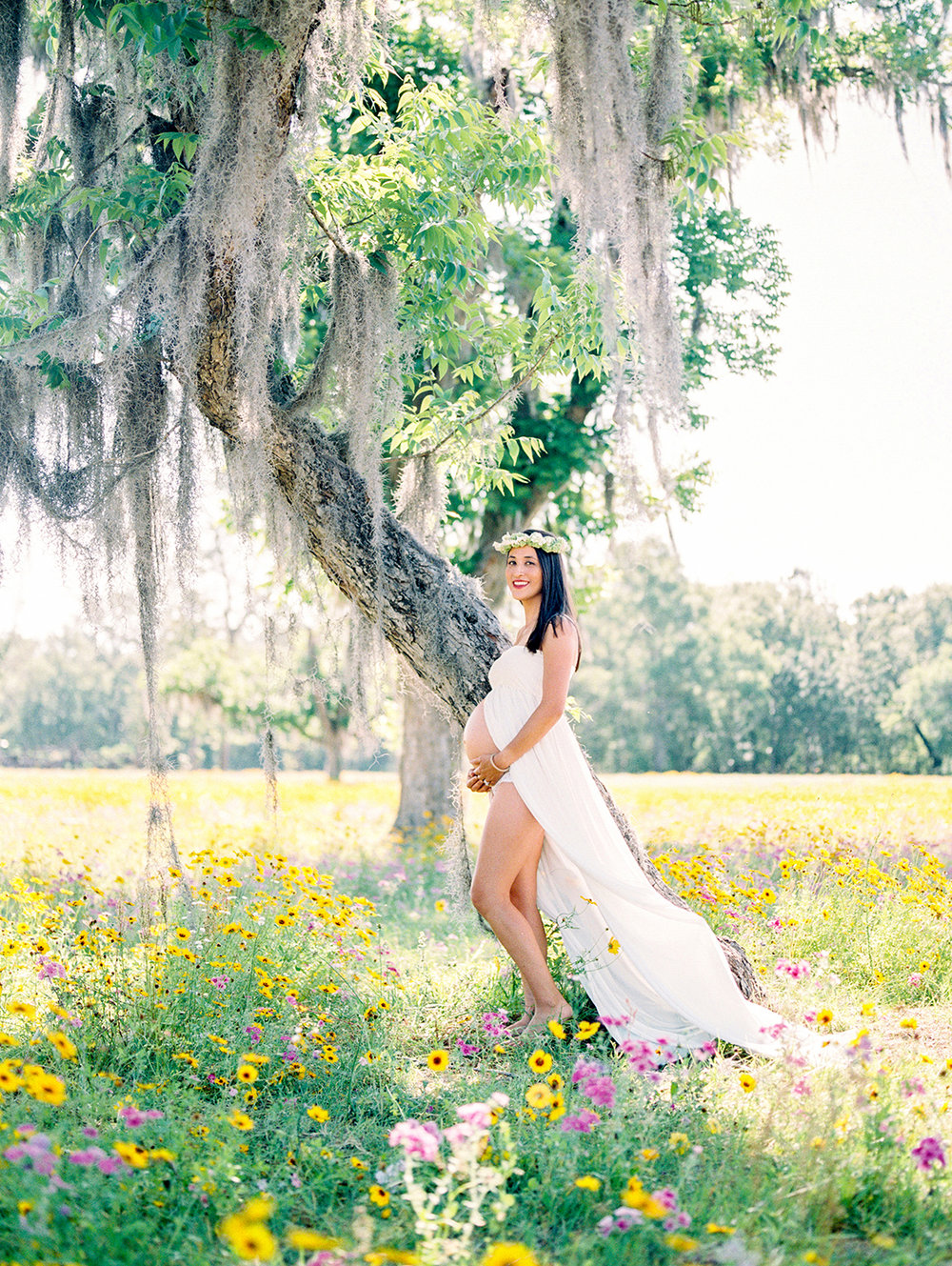 Family Maternity Session in a Flower Field- Lisa Silva Photography- Jacksonville and St. Augustine Florida Fine Art Film Photography- 8.jpg