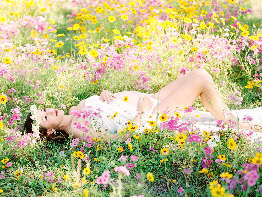 Family Maternity Session in a Flower Field- Lisa Silva Photography- Jacksonville and St. Augustine Florida Fine Art Film Photography- 11.jpg