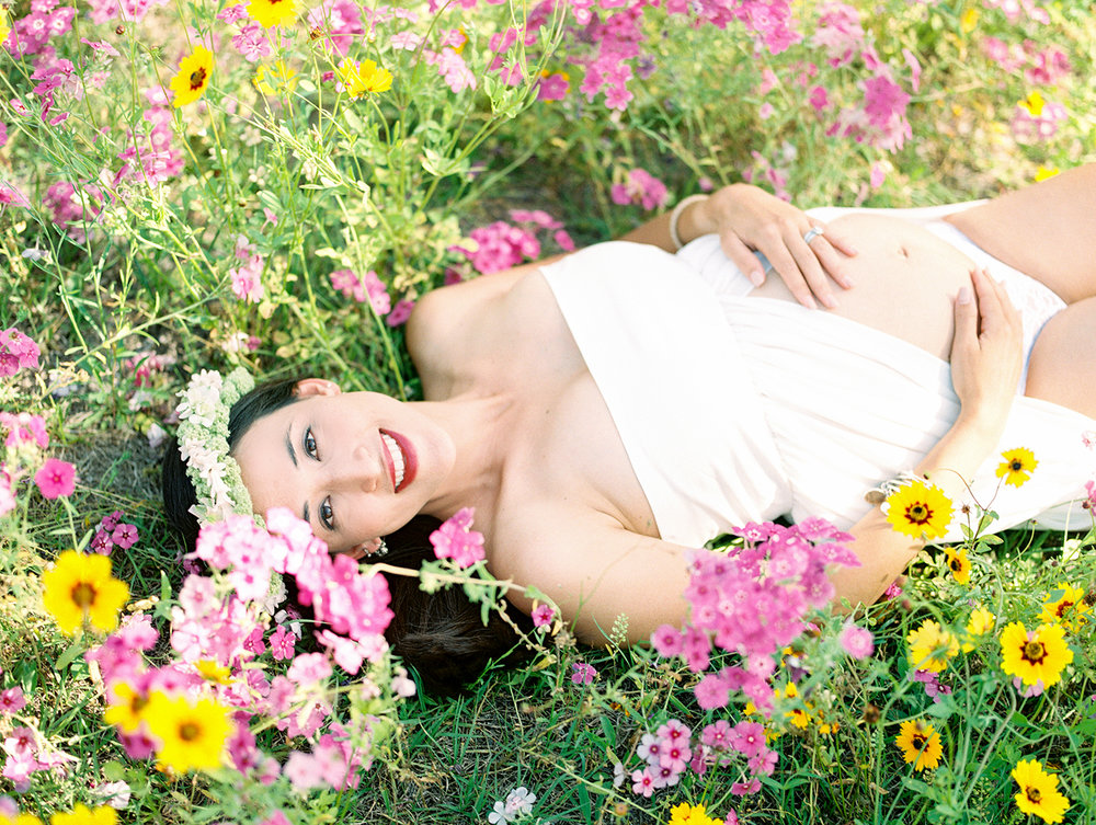 Family Maternity Session in a Flower Field- Lisa Silva Photography- Jacksonville and St. Augustine Florida Fine Art Film Photography- 13.jpg