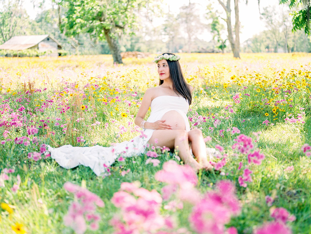 Family Maternity Session in a Flower Field- Lisa Silva Photography- Jacksonville and St. Augustine Florida Fine Art Film Photography- 16.jpg