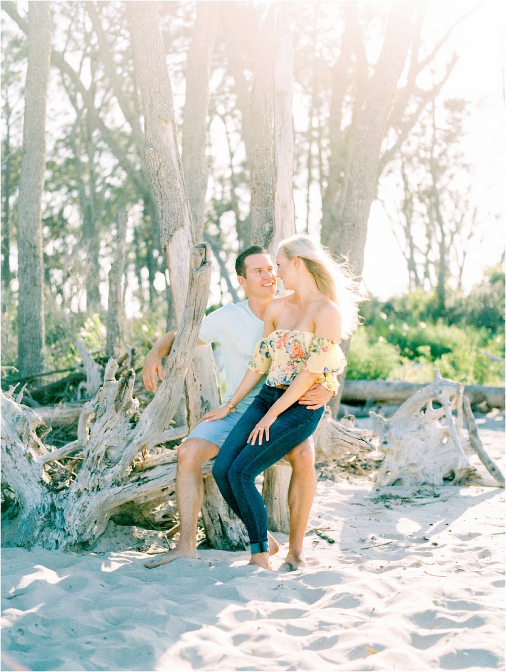Lisa Silva Photography- Ponte Vedra Beach and Jacksonville, Florida Fine Art Film Wedding Photography- Engagement Shoot at Big Talbot Island_0004.jpg