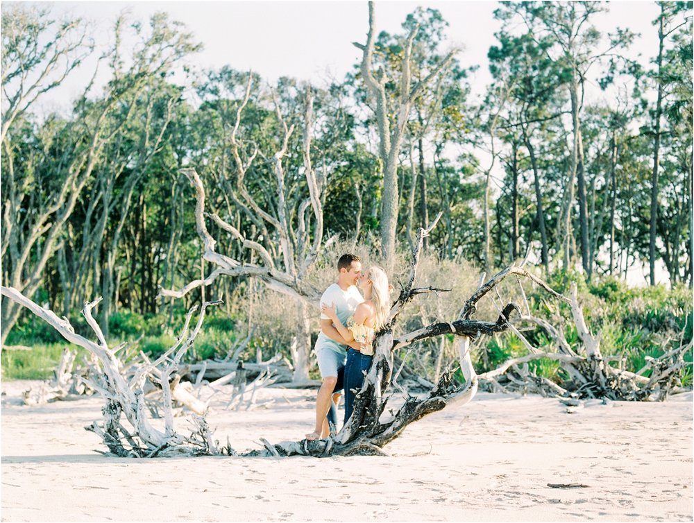 Lisa Silva Photography- Ponte Vedra Beach and Jacksonville, Florida Fine Art Film Wedding Photography- Engagement Shoot at Big Talbot Island_0005.jpg