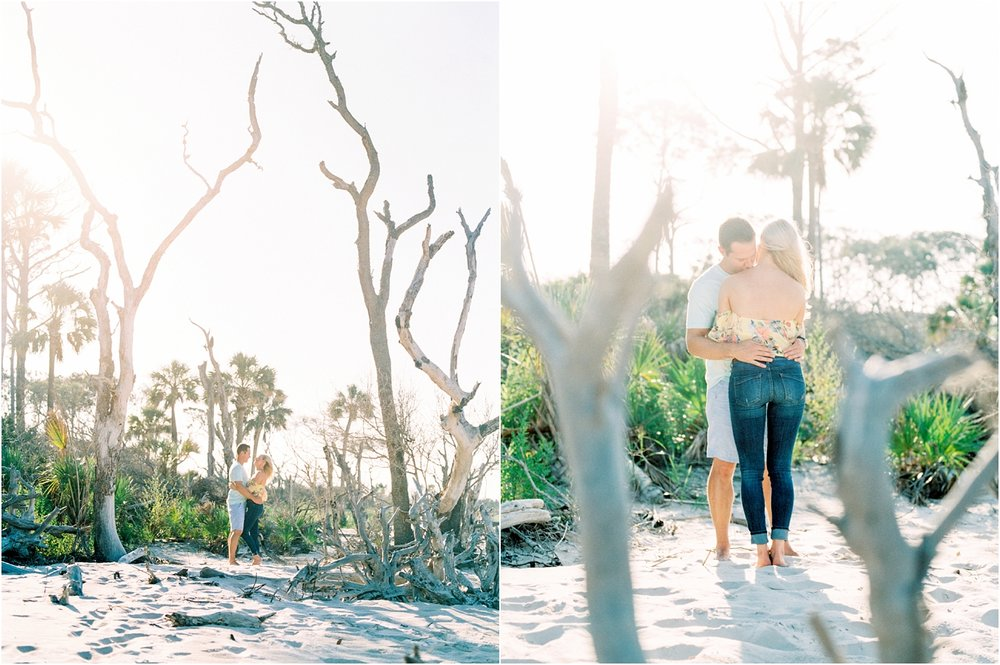 Lisa Silva Photography- Ponte Vedra Beach and Jacksonville, Florida Fine Art Film Wedding Photography- Engagement Shoot at Big Talbot Island_0010.jpg