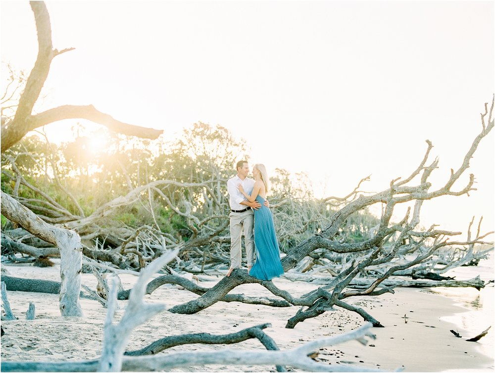 Lisa Silva Photography- Ponte Vedra Beach and Jacksonville, Florida Fine Art Film Wedding Photography- Engagement Shoot at Big Talbot Island_0015.jpg