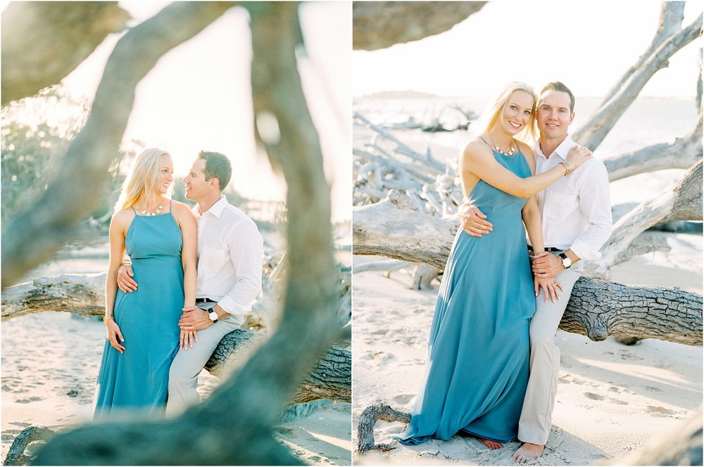Lisa Silva Photography- Ponte Vedra Beach and Jacksonville, Florida Fine Art Film Wedding Photography- Engagement Shoot at Big Talbot Island_0024.jpg