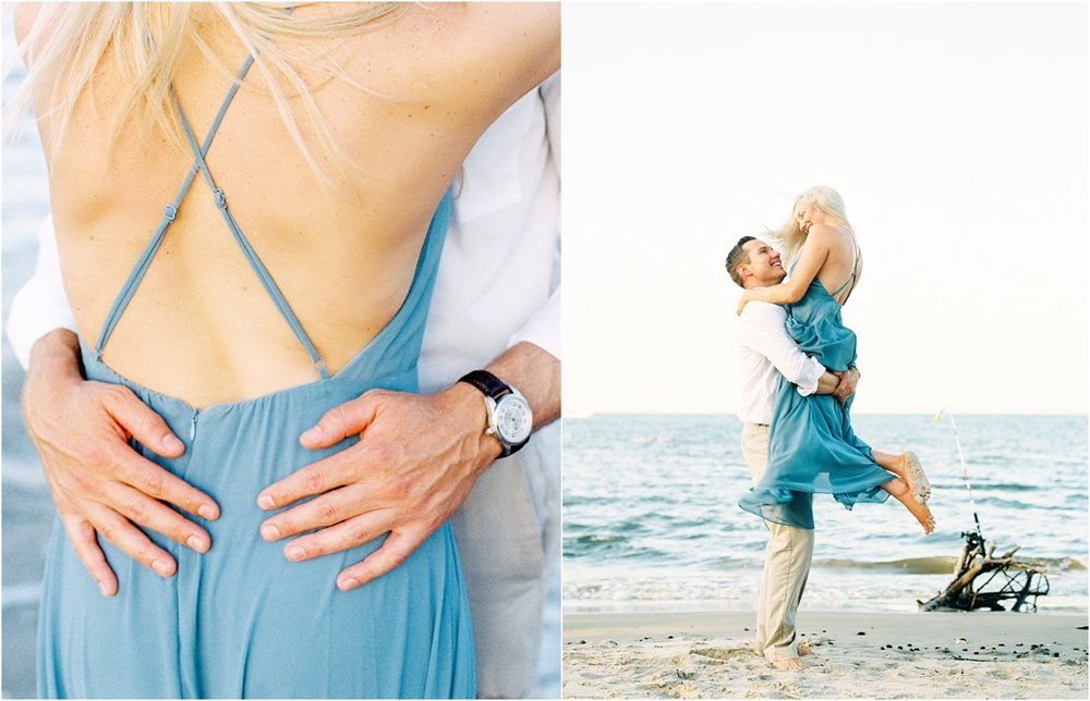 Lisa Silva Photography- Ponte Vedra Beach and Jacksonville, Florida Fine Art Film Wedding Photography- Engagement Shoot at Big Talbot Island_0028.jpg