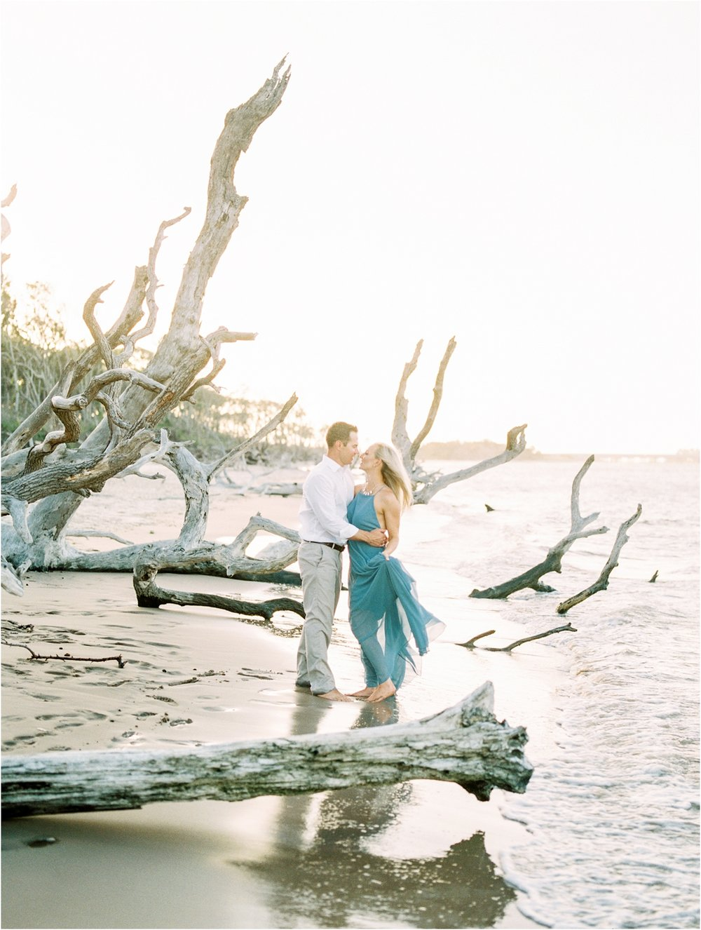 Lisa Silva Photography- Ponte Vedra Beach and Jacksonville, Florida Fine Art Film Wedding Photography- Engagement Shoot at Big Talbot Island_0032.jpg
