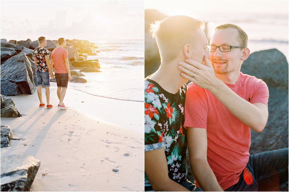 Lisa Silva Photography- Ponte Vedra Beach, St. Augustine and Jacksonville, Florida Fine Art Film Wedding Photography- Sunrise Engagement Shoot at  Vilano Beach_0043.jpg