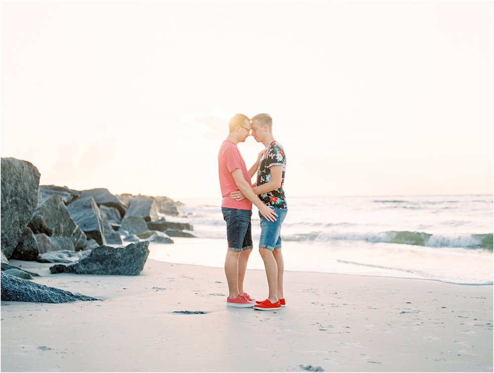 Lisa Silva Photography- Ponte Vedra Beach, St. Augustine and Jacksonville, Florida Fine Art Film Wedding Photography- Sunrise Engagement Shoot at  Vilano Beach_0051.jpg