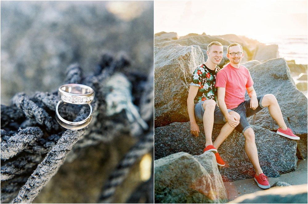 Lisa Silva Photography- Ponte Vedra Beach, St. Augustine and Jacksonville, Florida Fine Art Film Wedding Photography- Sunrise Engagement Shoot at  Vilano Beach_0052.jpg