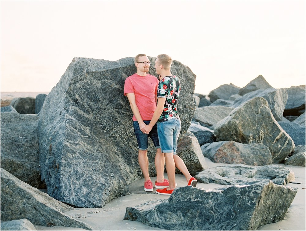 Lisa Silva Photography- Ponte Vedra Beach, St. Augustine and Jacksonville, Florida Fine Art Film Wedding Photography- Sunrise Engagement Shoot at  Vilano Beach_0056.jpg