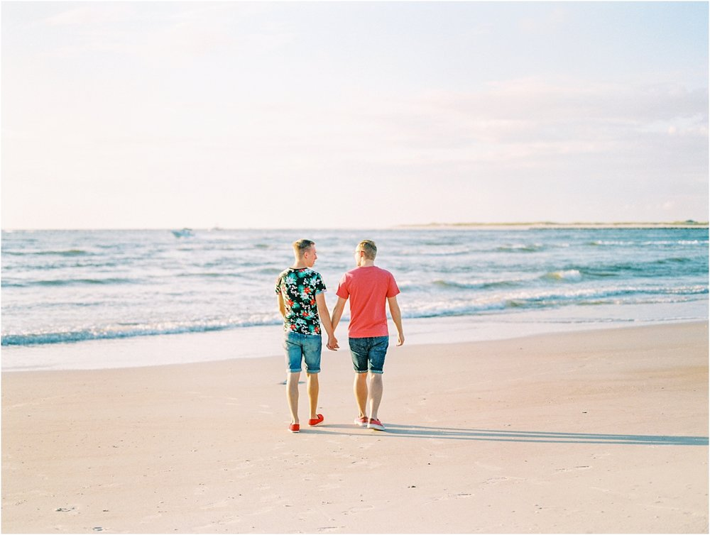 Lisa Silva Photography- Ponte Vedra Beach, St. Augustine and Jacksonville, Florida Fine Art Film Wedding Photography- Sunrise Engagement Shoot at  Vilano Beach_0062.jpg