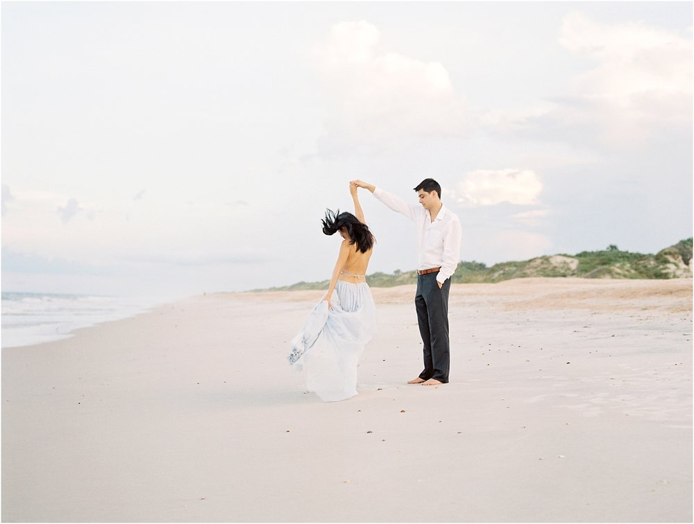 Lisa Silva Photography- Ponte Vedra Beach, St. Augustine and Jacksonville, Florida Fine Art Film Wedding Photography- Sunset Engagement Session at  Guana Beach State Park_0001.jpg