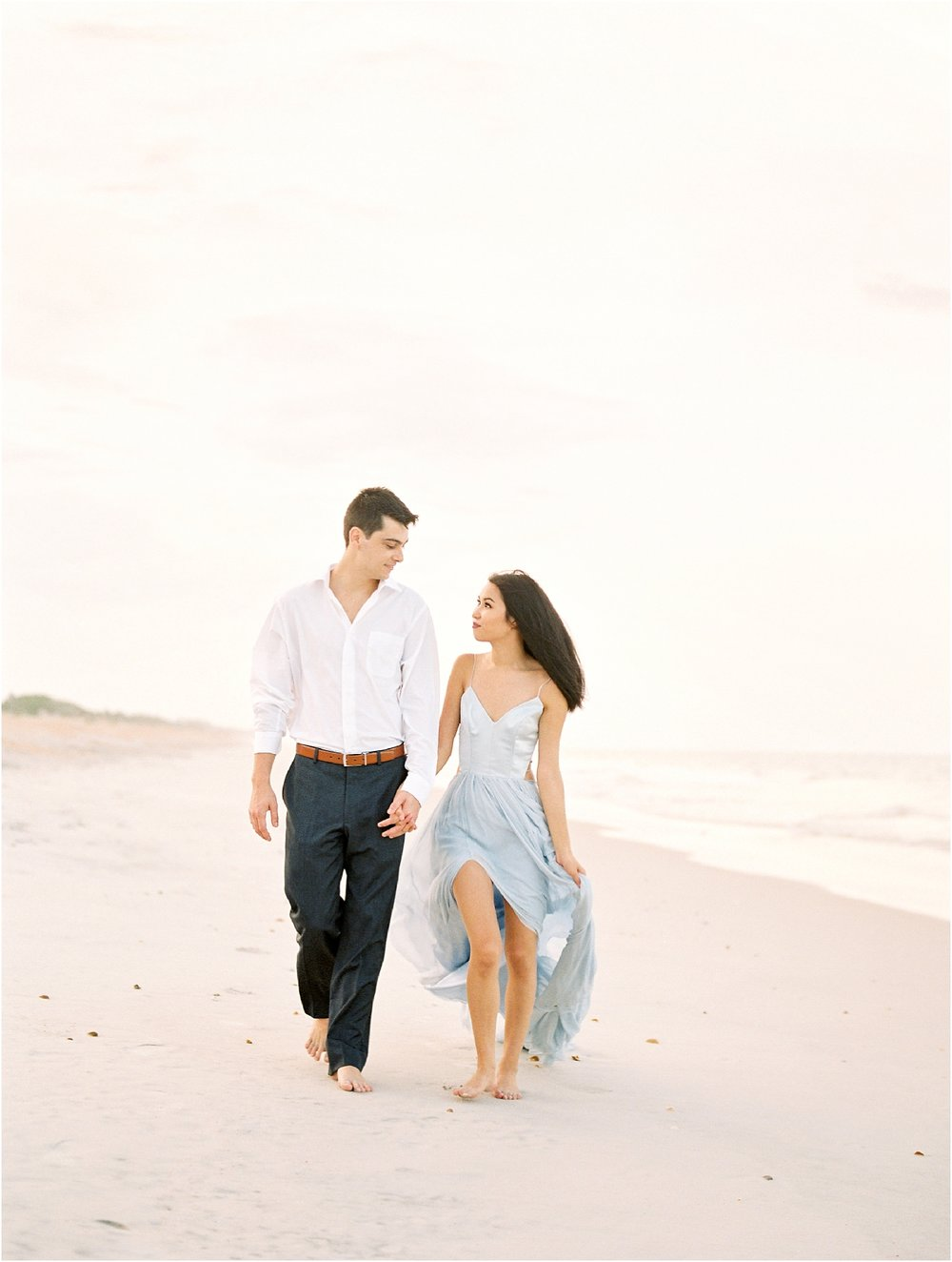 Lisa Silva Photography- Ponte Vedra Beach, St. Augustine and Jacksonville, Florida Fine Art Film Wedding Photography- Sunset Engagement Session at  Guana Beach State Park_0002.jpg