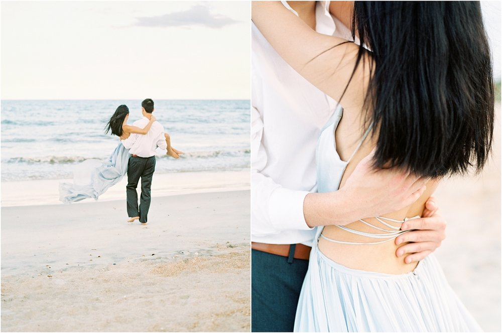 Lisa Silva Photography- Ponte Vedra Beach, St. Augustine and Jacksonville, Florida Fine Art Film Wedding Photography- Sunset Engagement Session at  Guana Beach State Park_0003.jpg