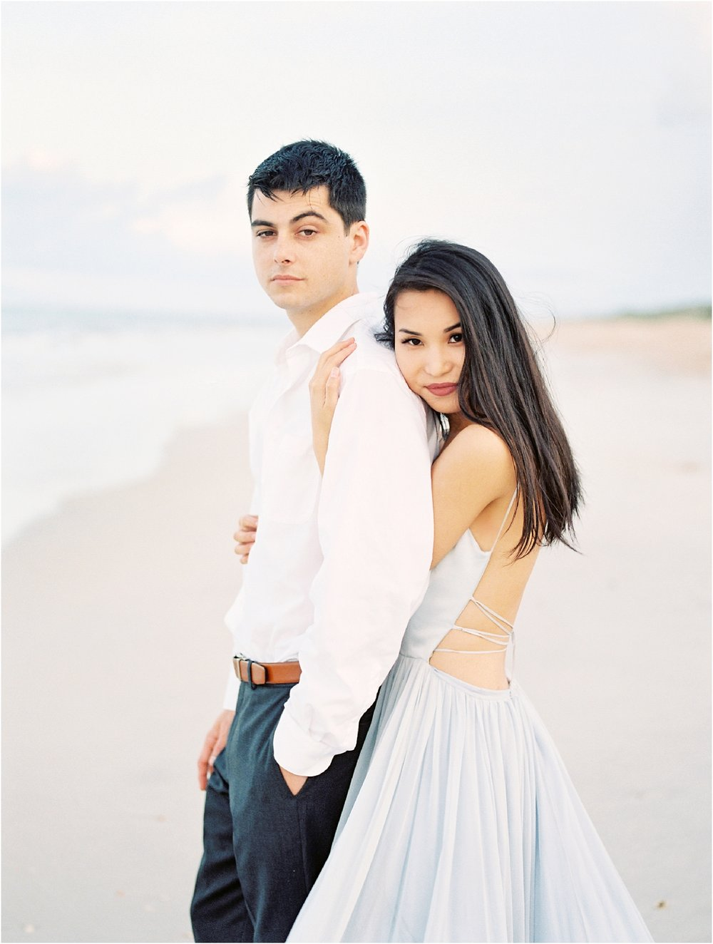 Lisa Silva Photography- Ponte Vedra Beach, St. Augustine and Jacksonville, Florida Fine Art Film Wedding Photography- Sunset Engagement Session at  Guana Beach State Park_0004.jpg