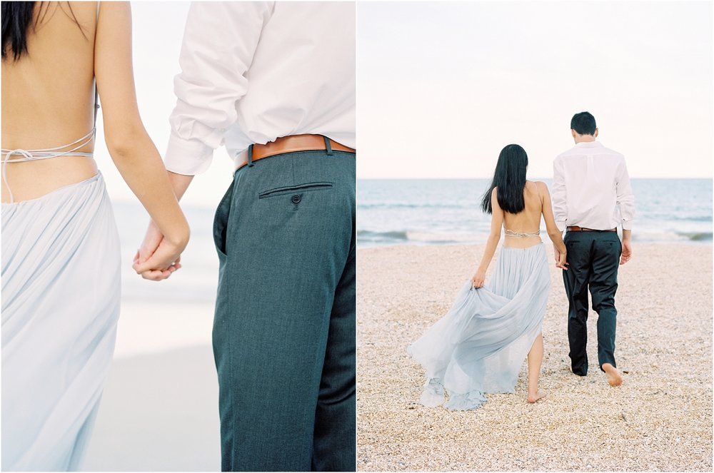 Lisa Silva Photography- Ponte Vedra Beach, St. Augustine and Jacksonville, Florida Fine Art Film Wedding Photography- Sunset Engagement Session at  Guana Beach State Park_0008.jpg