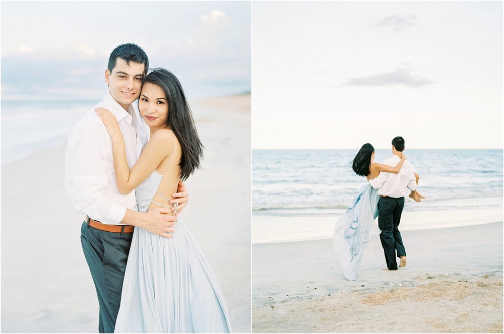 Lisa Silva Photography- Ponte Vedra Beach, St. Augustine and Jacksonville, Florida Fine Art Film Wedding Photography- Sunset Engagement Session at  Guana Beach State Park_0012.jpg