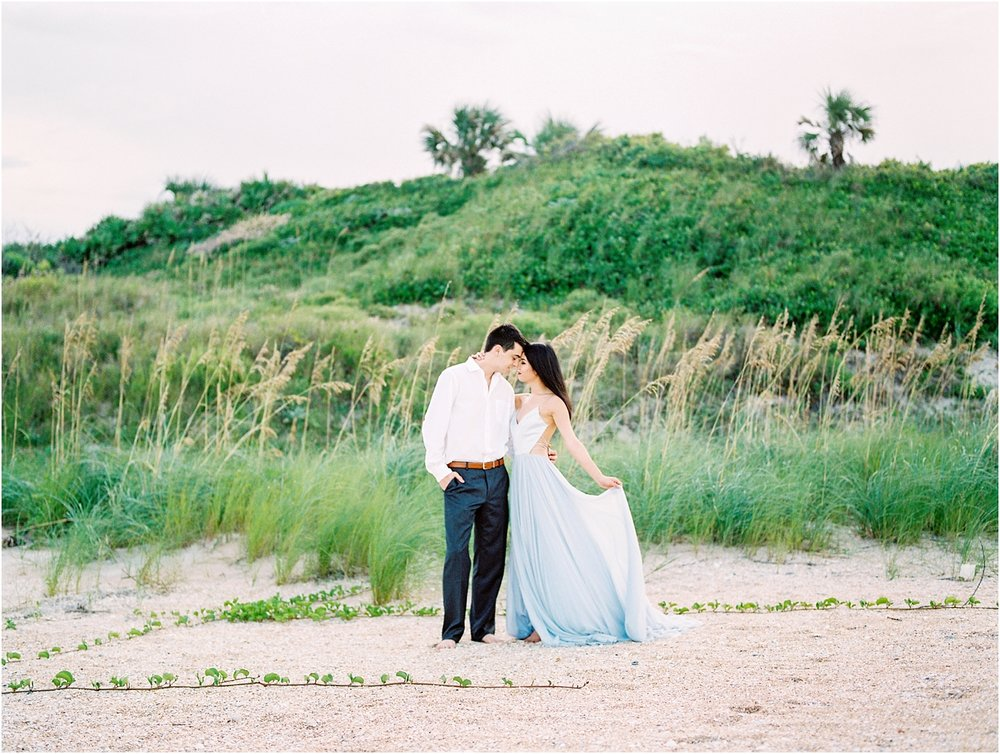 Lisa Silva Photography- Ponte Vedra Beach, St. Augustine and Jacksonville, Florida Fine Art Film Wedding Photography- Sunset Engagement Session at  Guana Beach State Park_0015.jpg