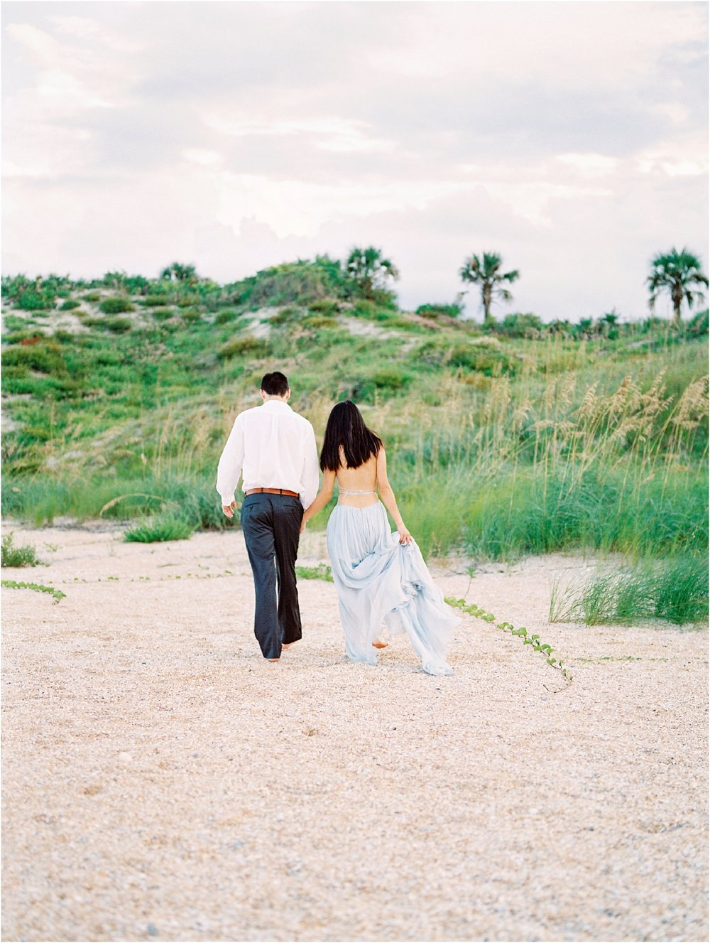 Lisa Silva Photography- Ponte Vedra Beach, St. Augustine and Jacksonville, Florida Fine Art Film Wedding Photography- Sunset Engagement Session at  Guana Beach State Park_0014.jpg