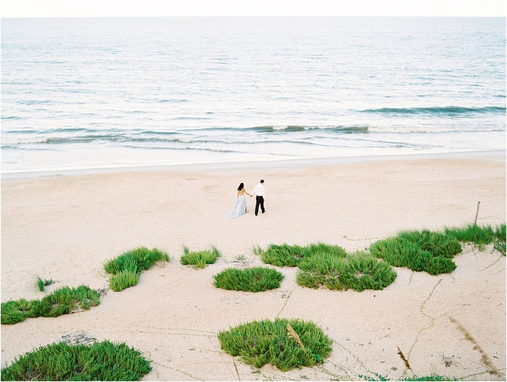 Lisa Silva Photography- Ponte Vedra Beach, St. Augustine and Jacksonville, Florida Fine Art Film Wedding Photography- Sunset Engagement Session at  Guana Beach State Park_0017.jpg