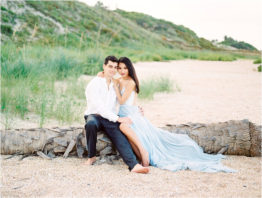 Lisa Silva Photography- Ponte Vedra Beach, St. Augustine and Jacksonville, Florida Fine Art Film Wedding Photography- Sunset Engagement Session at  Guana Beach State Park_0019.jpg