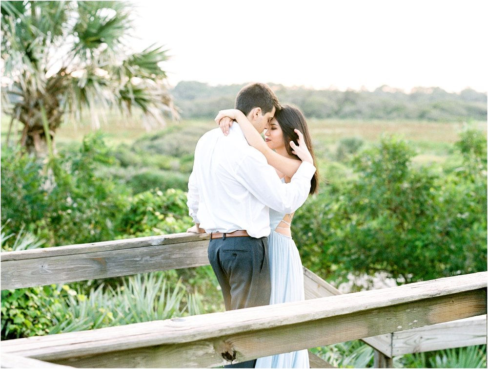 Lisa Silva Photography- Ponte Vedra Beach, St. Augustine and Jacksonville, Florida Fine Art Film Wedding Photography- Sunset Engagement Session at  Guana Beach State Park_0024.jpg