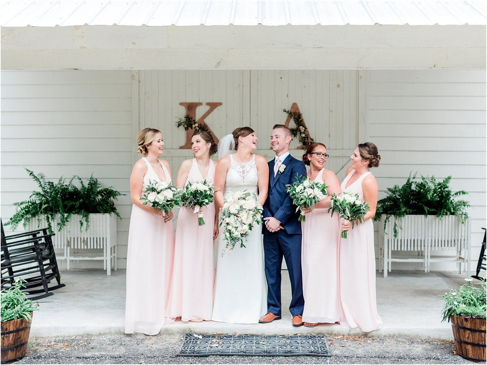 Lisa Silva Photography- Ponte Vedra Beach, St. Augustine and Jacksonville, Florida Fine Art Film Wedding and Boudoir Photography- Elegant Blush and Navy Wedding at Chandler Oaks Barn in St. Augustine, Florida_0035.jpg