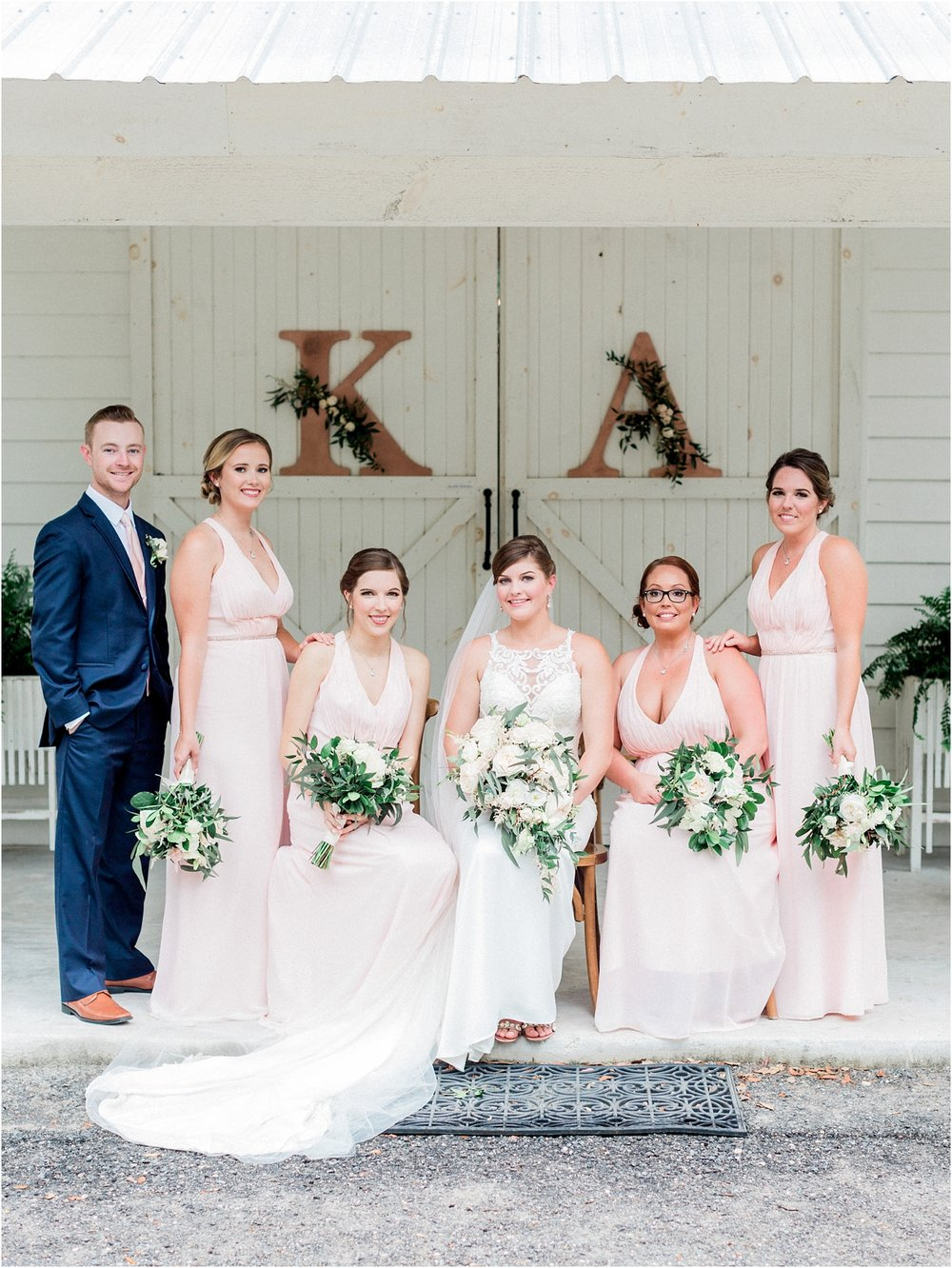 Lisa Silva Photography- Ponte Vedra Beach, St. Augustine and Jacksonville, Florida Fine Art Film Wedding and Boudoir Photography- Elegant Blush and Navy Wedding at Chandler Oaks Barn in St. Augustine, Florida_0036.jpg