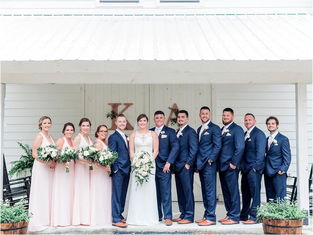 Lisa Silva Photography- Ponte Vedra Beach, St. Augustine and Jacksonville, Florida Fine Art Film Wedding and Boudoir Photography- Elegant Blush and Navy Wedding at Chandler Oaks Barn in St. Augustine, Florida_0074.jpg