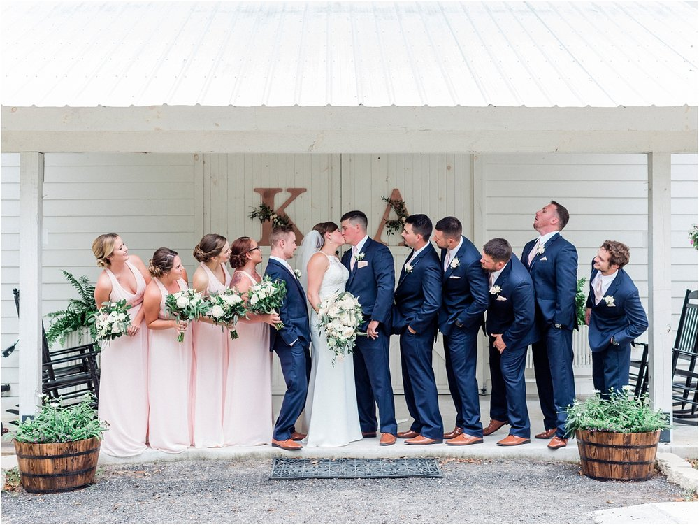 Lisa Silva Photography- Ponte Vedra Beach, St. Augustine and Jacksonville, Florida Fine Art Film Wedding and Boudoir Photography- Elegant Blush and Navy Wedding at Chandler Oaks Barn in St. Augustine, Florida_0075.jpg