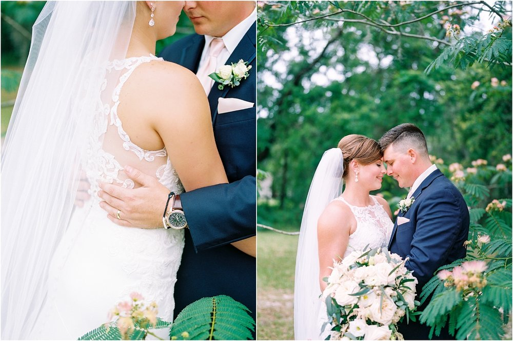 Lisa Silva Photography- Ponte Vedra Beach, St. Augustine and Jacksonville, Florida Fine Art Film Wedding and Boudoir Photography- Elegant Blush and Navy Wedding at Chandler Oaks Barn in St. Augustine, Florida_0081.jpg