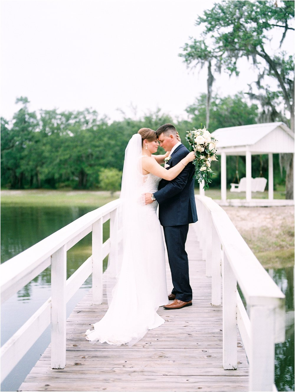 Lisa Silva Photography- Ponte Vedra Beach, St. Augustine and Jacksonville, Florida Fine Art Film Wedding and Boudoir Photography- Elegant Blush and Navy Wedding at Chandler Oaks Barn in St. Augustine, Florida_0085.jpg