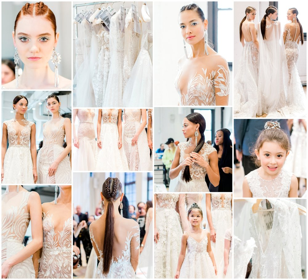 Backstage at Berta Bridal