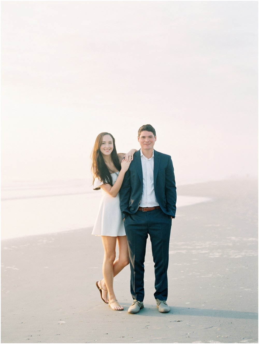 Lisa Silva Photography -Engagement Session at Neptune Beach, Florida- Jacksonville and North East Florida Fine Art Film Photographer_0005.jpg