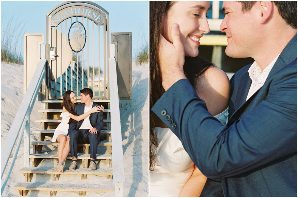 Lisa Silva Photography -Engagement Session at Neptune Beach, Florida- Jacksonville and North East Florida Fine Art Film Photographer_0015.jpg