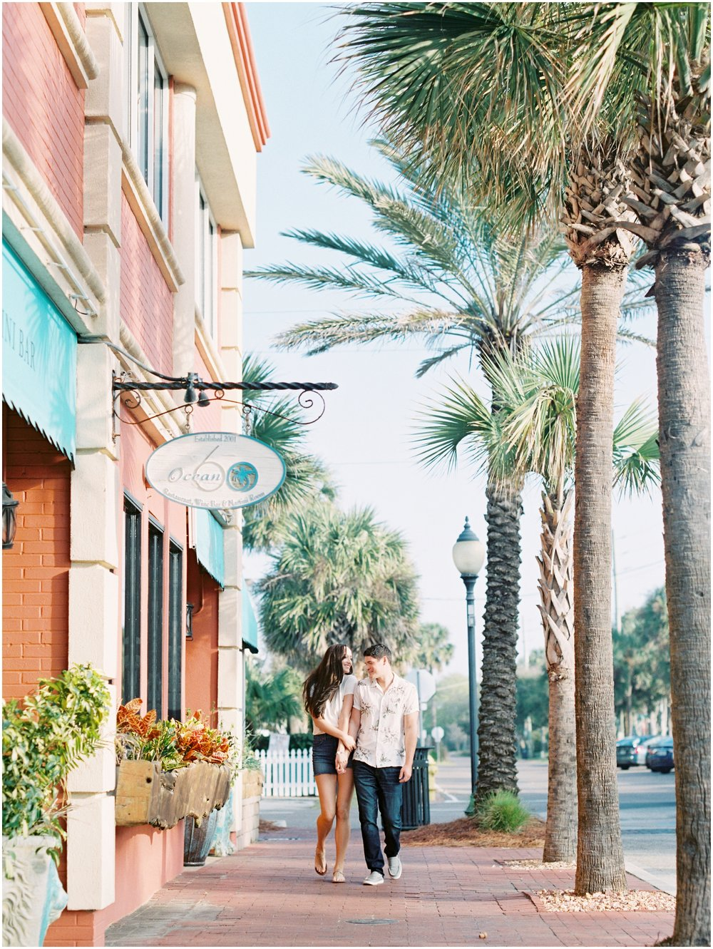 Lisa Silva Photography -Engagement Session at Neptune Beach, Florida- Jacksonville and North East Florida Fine Art Film Photographer_0033.jpg