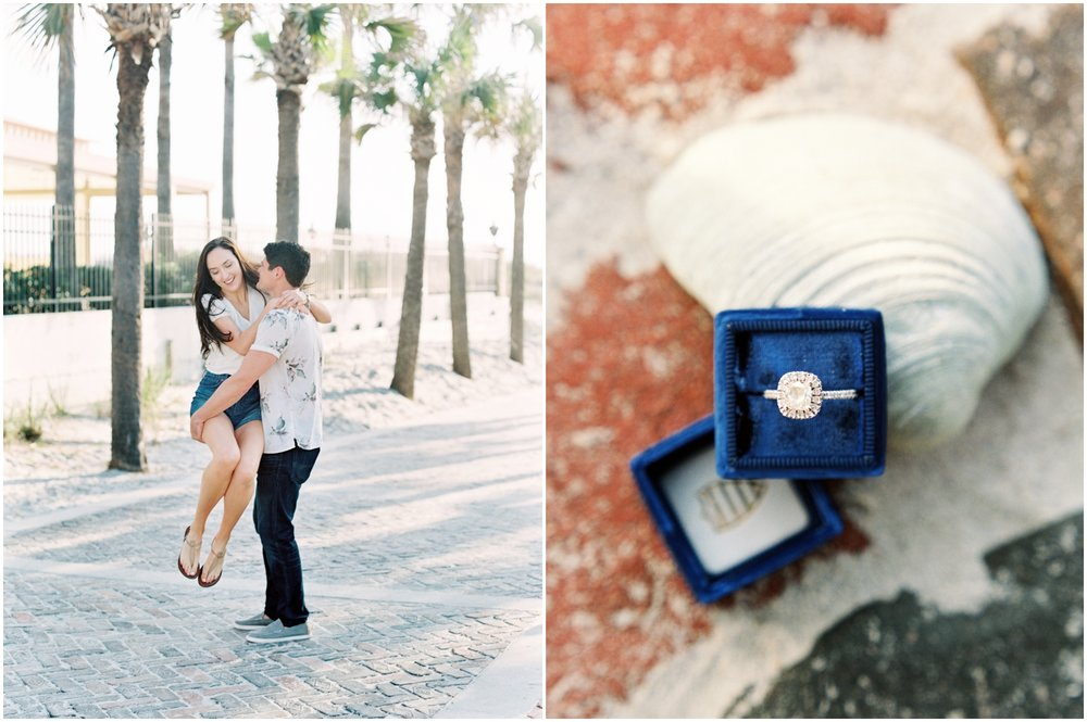 Lisa Silva Photography -Engagement Session at Neptune Beach, Florida- Jacksonville and North East Florida Fine Art Film Photographer_0037.jpg