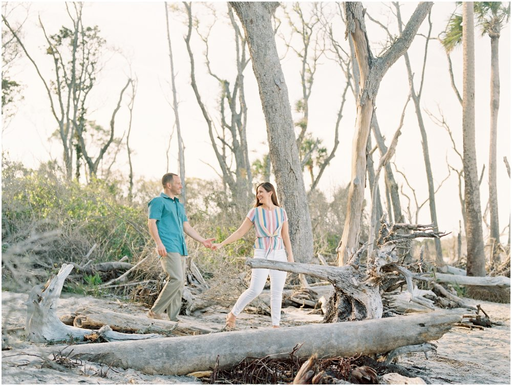 Lisa Silva Photography -Engagement Session at Big Talbot Island- Jacksonville and North East Florida Fine Art Film Photographer_0012.jpg