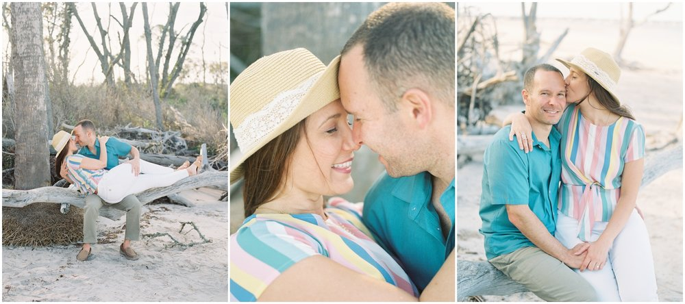 Lisa Silva Photography -Engagement Session at Big Talbot Island- Jacksonville and North East Florida Fine Art Film Photographer_0025.jpg