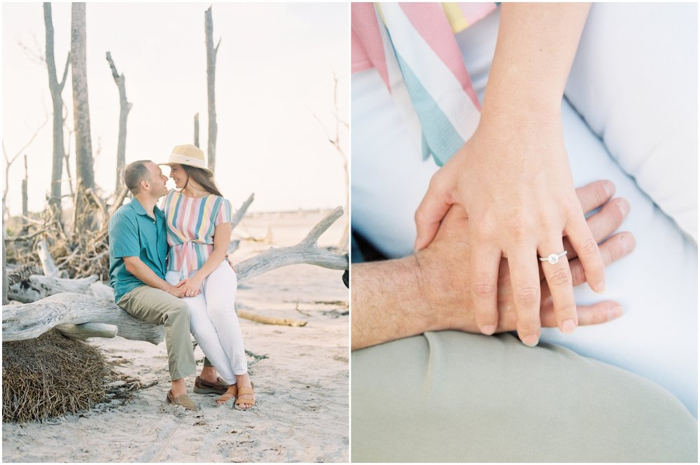 Lisa Silva Photography -Engagement Session at Big Talbot Island- Jacksonville and North East Florida Fine Art Film Photographer_0028.jpg