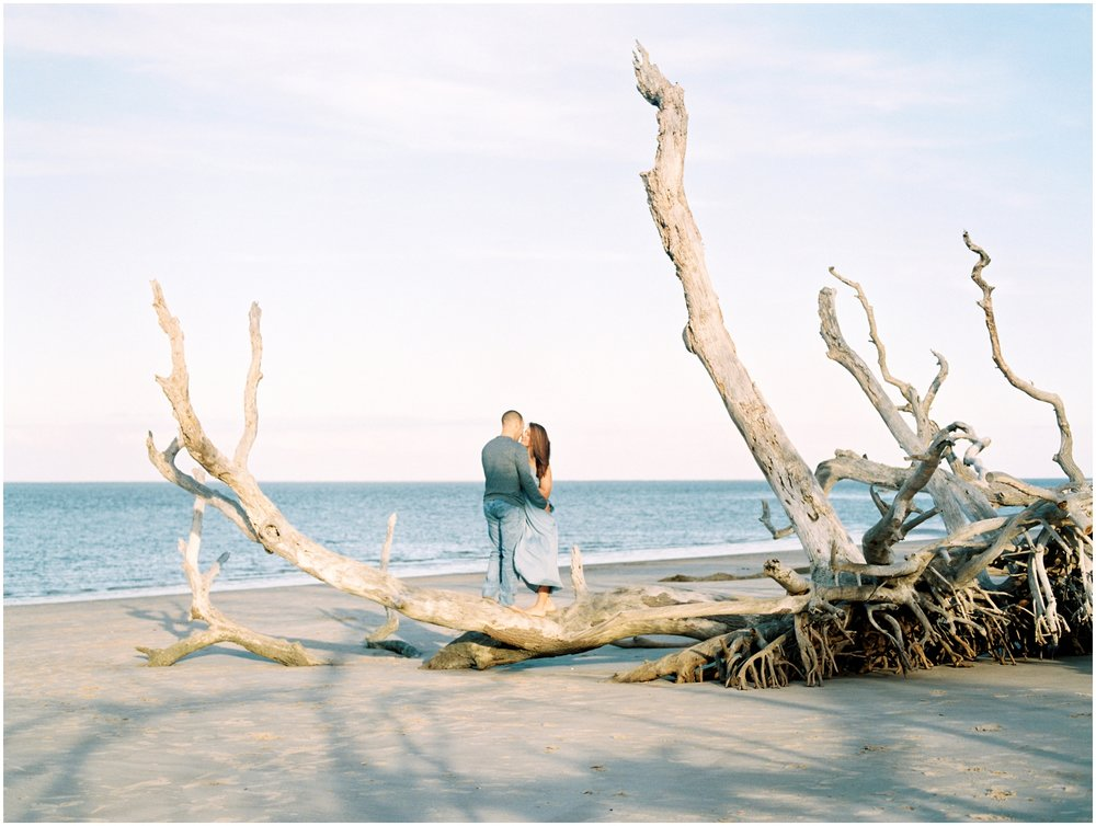 Lisa Silva Photography -Engagement Session at Big Talbot Island- Jacksonville and North East Florida Fine Art Film Photographer_0031.jpg