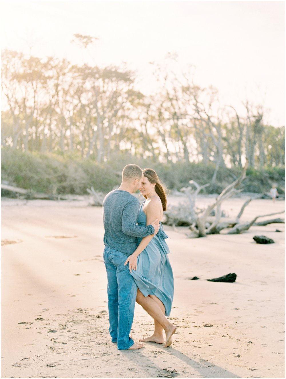 Lisa Silva Photography -Engagement Session at Big Talbot Island- Jacksonville and North East Florida Fine Art Film Photographer_0030.jpg