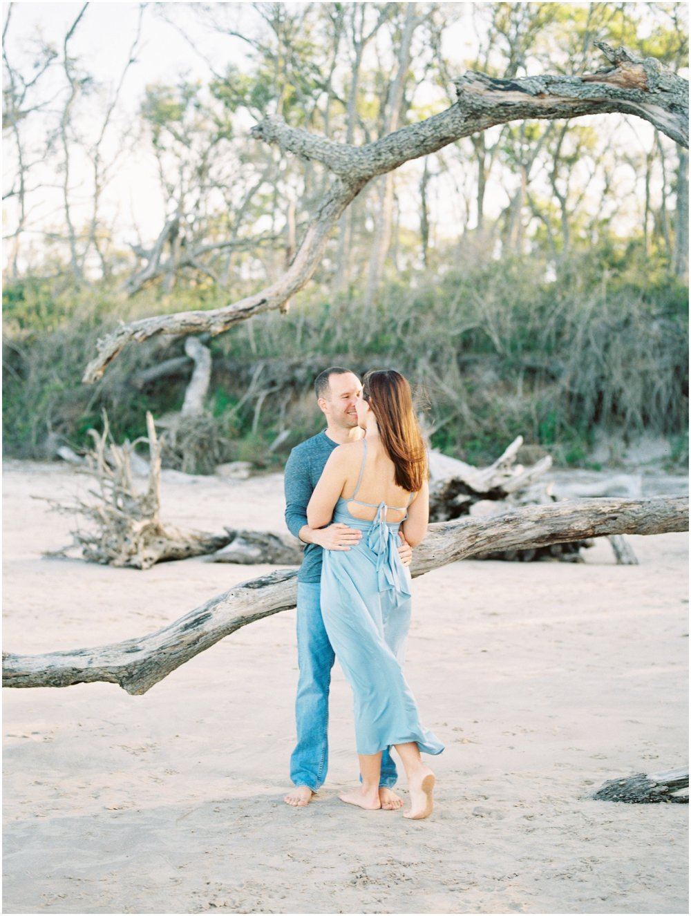Lisa Silva Photography -Engagement Session at Big Talbot Island- Jacksonville and North East Florida Fine Art Film Photographer_0034.jpg