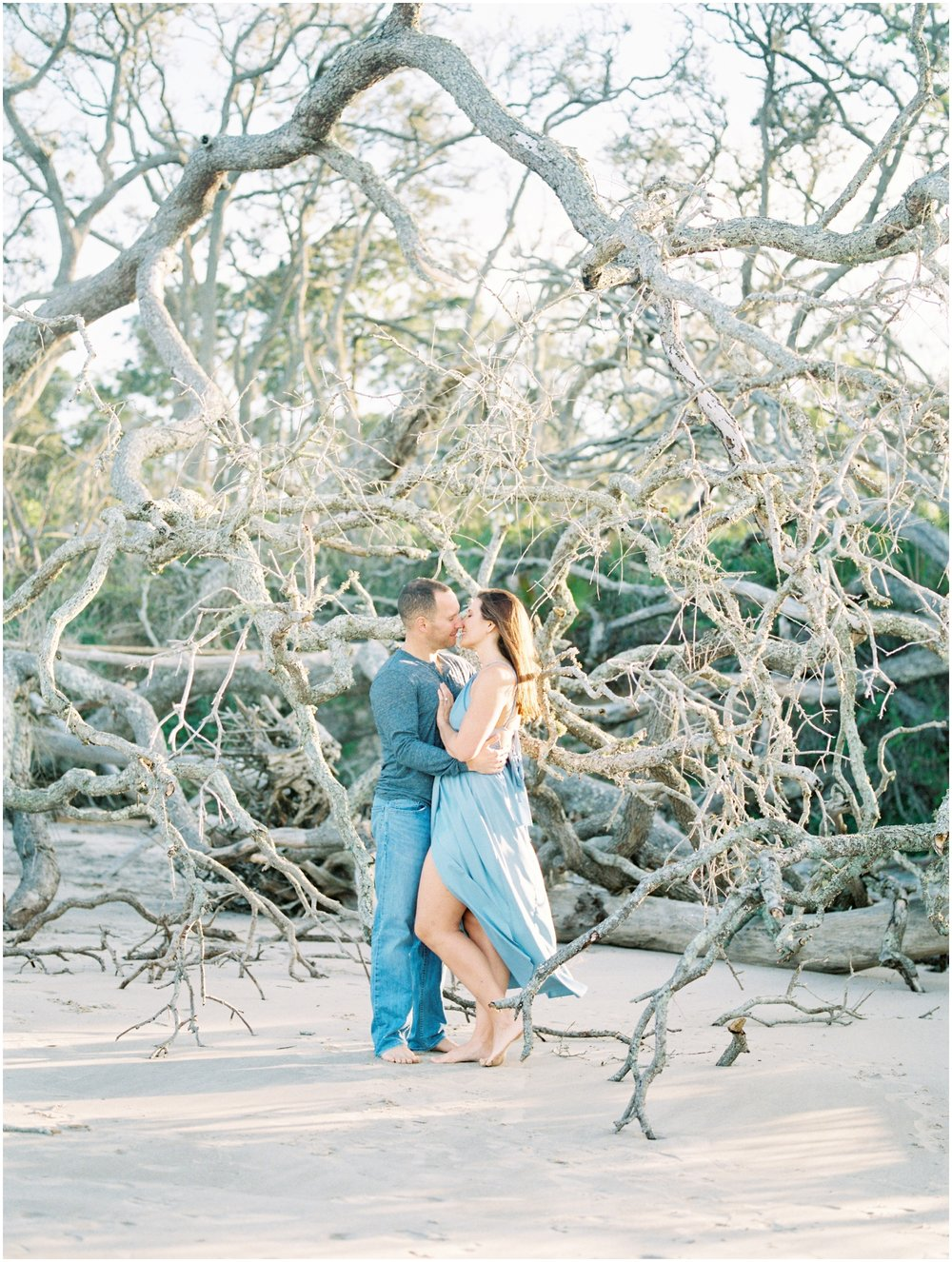 Lisa Silva Photography -Engagement Session at Big Talbot Island- Jacksonville and North East Florida Fine Art Film Photographer_0038.jpg
