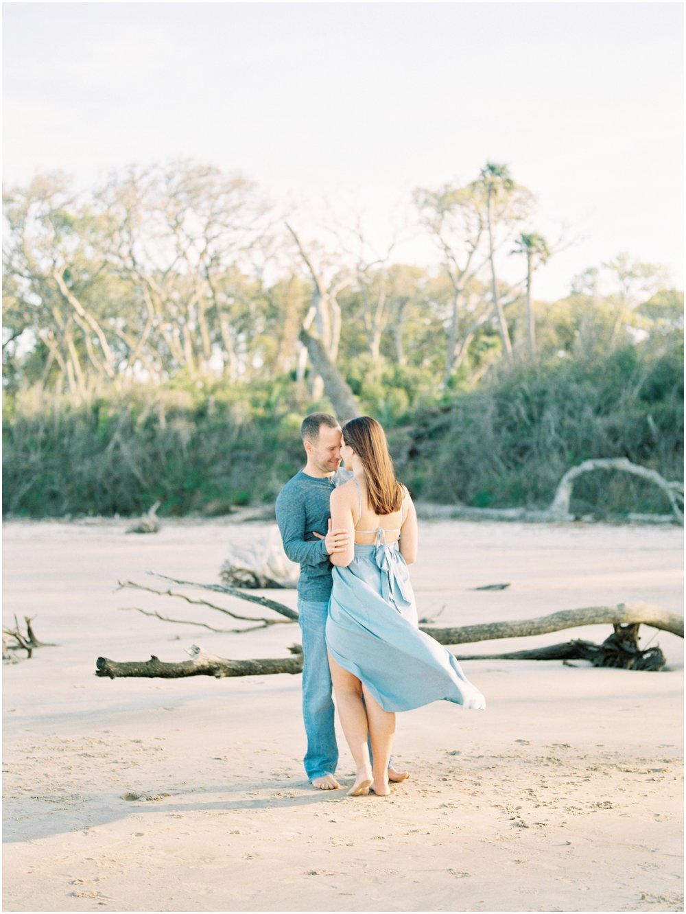 Lisa Silva Photography -Engagement Session at Big Talbot Island- Jacksonville and North East Florida Fine Art Film Photographer_0042.jpg