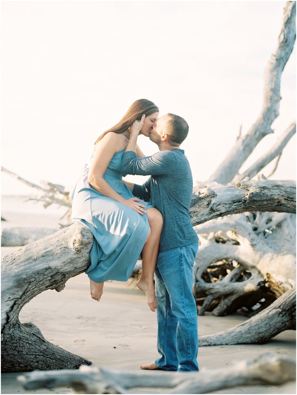 Lisa Silva Photography -Engagement Session at Big Talbot Island- Jacksonville and North East Florida Fine Art Film Photographer_0047.jpg